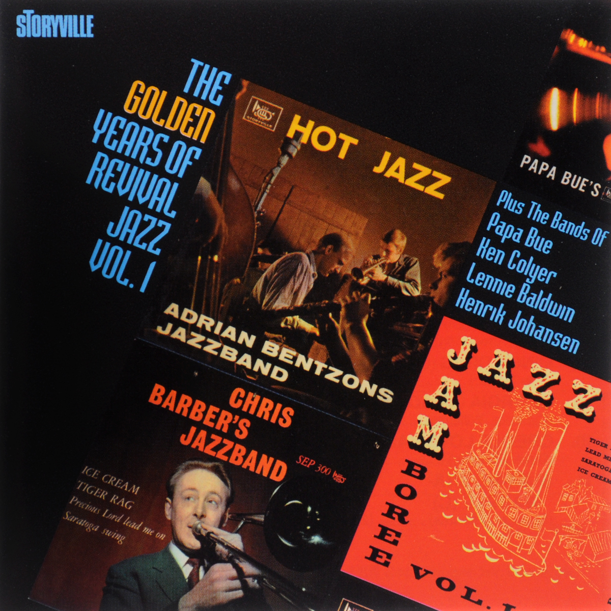 Chris Barber's Jazzband,Cy Laurie's New Orleans Septet,Билли Блэнкс,Adrian Bentzon's Jazzband,Ken Colyer's Jazzmen,Henrik Johansen's Jazzband,Lennie Baldwin's Dauphin Street Six,Papa Bue's Viking Jazz Band The Golden Years Of Revival Jazz Vol. 1 creedence clearwater revival creedence clearwater revival mardi gras lp