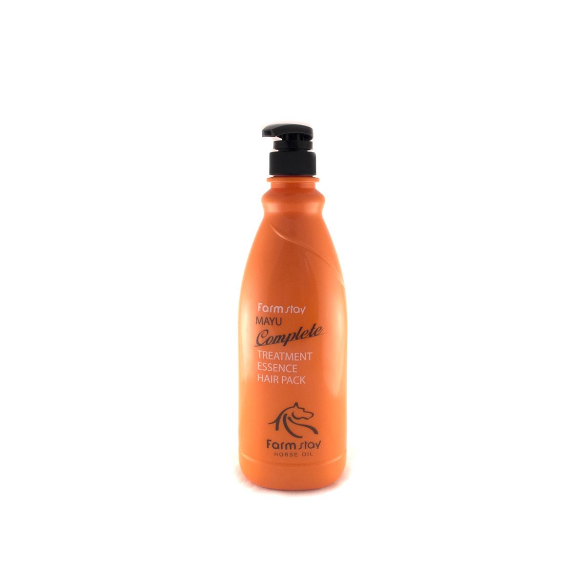 FarmStay Пительная маска для волос с лошадиным маслом, 1000 мл7042191Маска - тритмент для волос с концентрированной ессенцией с лошадиным маслом предназначена специально для улучшения состояний безжизненных, тусклых волос. Маска питает и восстанавливает слабые волосы, делает их сильными, крепкими, гладкими и шелковистыми. Питательные вещества в составе маски смягчают и увлажняют волосы, а особая разглаживающая формула значительно облегчает расчесывание, лечит секущиеся кончики, не позволяет волосам спутываться. Животный жир богат незаменимыми жирными кислотами (например, в нем содержится альфа-липоевая и линолевая кислоты, а также витамин А и Е). Лошадиное масло особенно ценится тем, что он лучше других жиров усваивается волосами, так как имеет состав, схожий с человеческой жировой секрецией. Именно поэтому данное вещество не отторгается организмом. Уже после первого применения вы заметите, что волосы заблестели, стали более здоровыми, упругими и живыми.