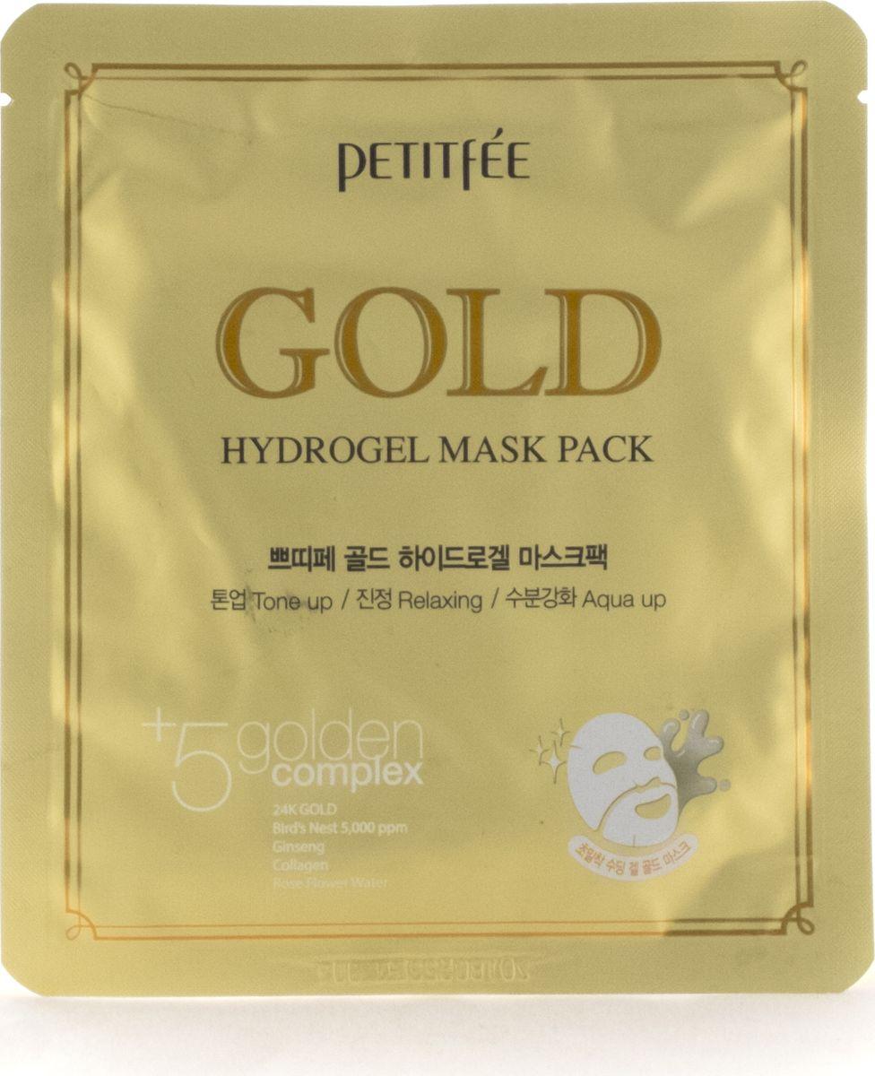 Petitfee Гидрогелевая маска для лица с золотом, 32гр недорого