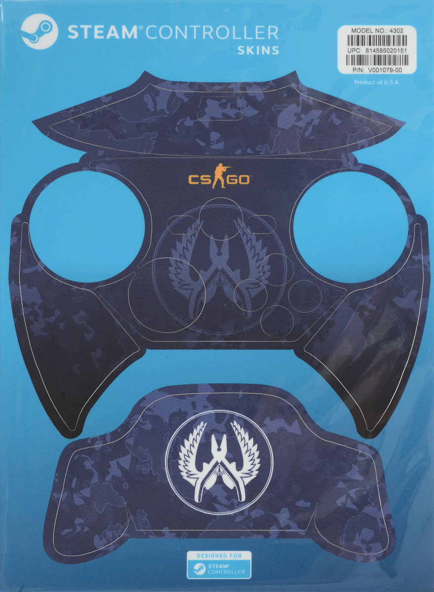 Valve CS:GO, Blue Camo комплект накладок для Steam Controller ключи для steam купить cs go за 150 рублей