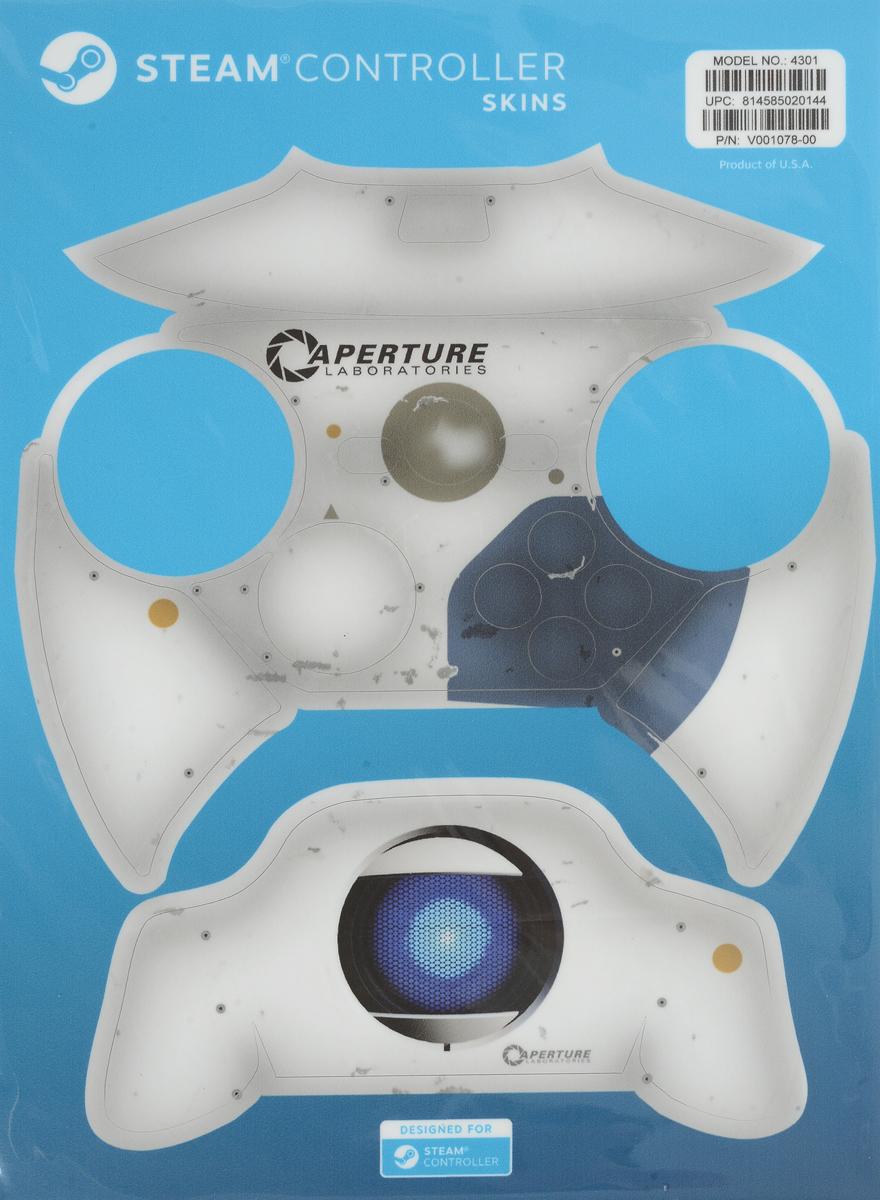 Valve Aperture комплект накладок для Steam Controller814585020144Накладки для Steam Controller защитят устройство от повреждений и придадут ему индивидуальность. Их легко наклеить, а также легко удалить, к тому же они отлично подогнаны под размер контроллера.