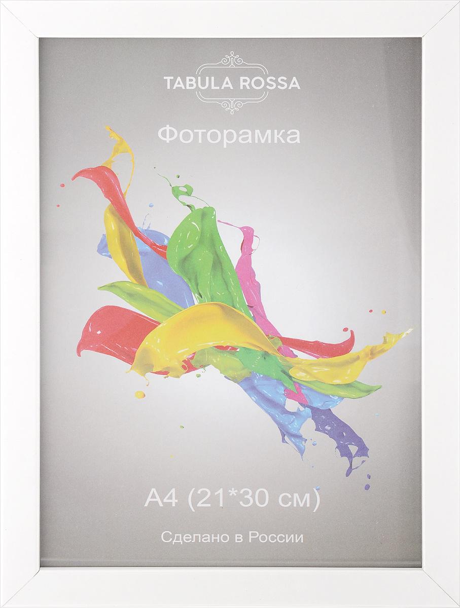 Фоторамка Tabula Rossa Глянец, цвет: белый, 21 х 30 см. ТР 50ТР 5062Фоторамка Tabula Rossa Глянец выполнена в современном стиле из МДФ, ДВП и стекла, защищающего фотографию. Оборотная сторона рамки оснащена двумя крючками для подвешивания. Такая фоторамка поможет вам оригинально и стильно дополнить интерьер помещения, а также позволит сохранить память о дорогих вам людях и интересных событиях вашей жизни.Размер фоторамки: 24 х 33 см.Подходит для фотографий размером: 21 х 30 см.