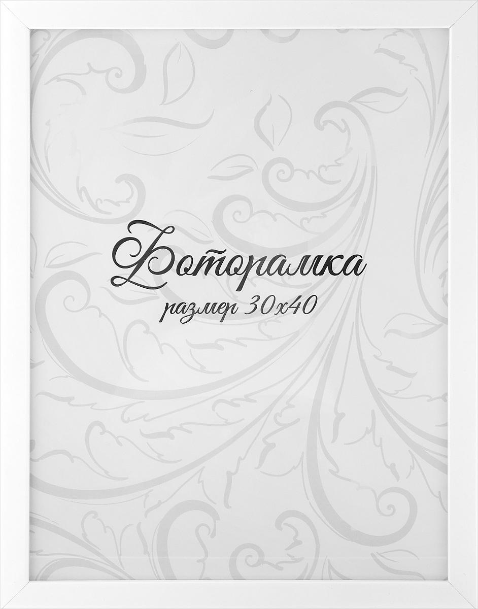 Фоторамка Tabula Rossa Глянец, цвет: белый, 30 х 40 см фоторамки tabula rossa фоторамка 13х18 455