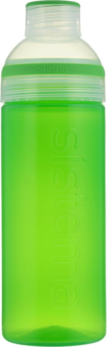 Бутылка для воды Sistema Trio, цвет: зеленый, 700 мл840_зеленыйБутылка для воды Sistema Trio изготовлена из прочного пищевого пластика без содержания фенола и других вредных примесей. Она отлично подходит для разных напитков, особенно для прохладительных со льдом. Конструкция бутылки оригинальна и хорошо продуманна. Помимо крышки, закрывающей широкое горлышко бутылки, в емкости есть еще одна отвинчивающаяся часть. Верхняя часть бутылки откручивается, позволяя поместить в емкость кубики льда или кусочки фруктов. Кроме того, эта верхняя часть может использоваться как кружка для питья.С такой бутылкой Вы сможете где угодно насладиться Вашими любимыми напитками.