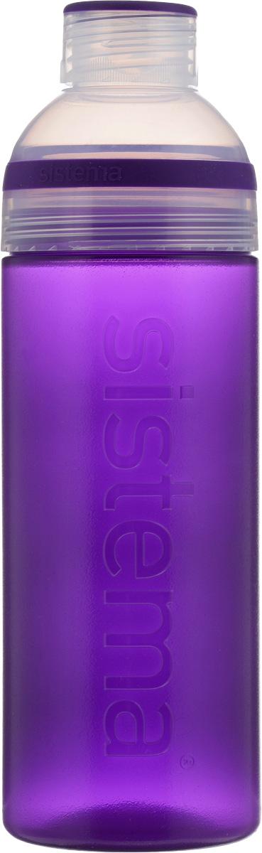 Бутылка для воды Sistema  Trio , цвет: фиолетовый, 700 мл - Туристическая посуда