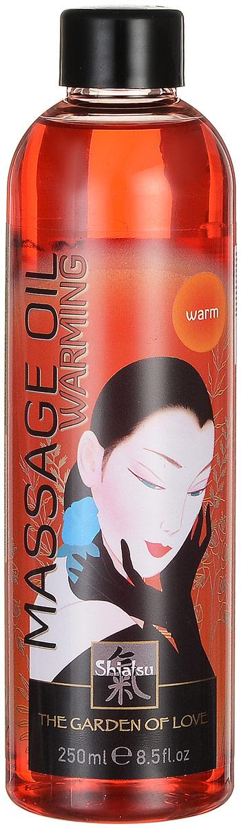Shiatsu Массажное масло Warming 250 млMYL-000000663Подогрейте чувства массажем с маслом Варминг, накал страстей вам будет обеспечен! Имеет легкую текстуру и поэтому легко отстирывается в случае попадания на постельное белье или одежду.