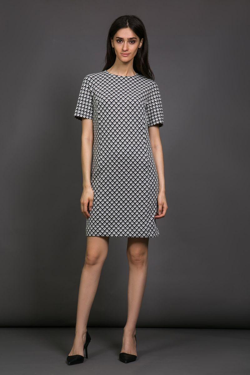 Платье La Via Estelar, цвет: черный, белый. 13982. Размер 48 платье la via estelar цвет фиолетовый 14672 2 размер 48