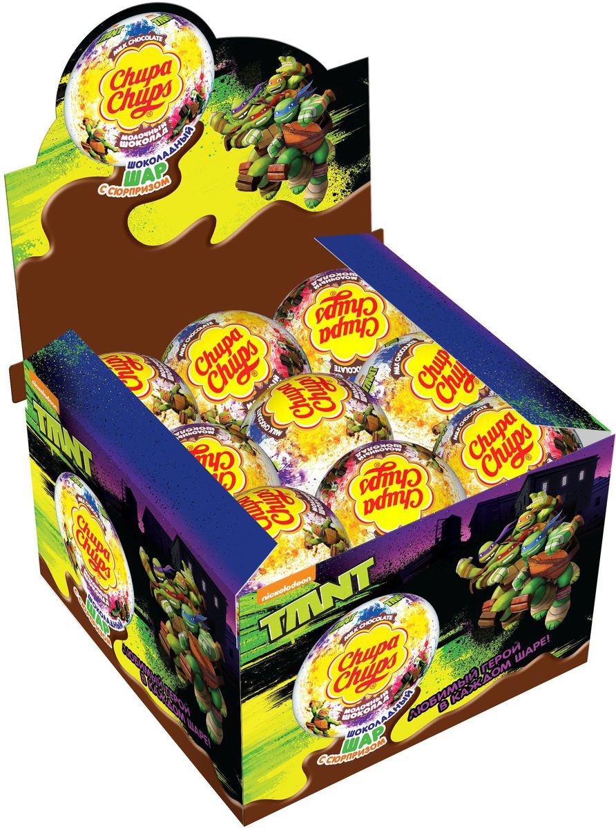 Chupa Chups Черепашки-ниндзя молочный шоколад, 18 штук по 20 г8253027Внутри каждого шоколадного шара Chupa Chups вы найдете новую игрушку, а снаружи - именно такой шоколад, как вы любите. Какая игрушка попадется в этот раз??? Соберите всю коллекцию и обменивайтесь с друзьями!