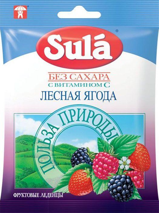 Sula Лесная ягода фруктовые леденцы, 60 г