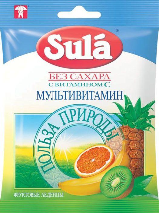 Sula Мультивитамин фруктовые леденцы, 60 г mackays десерт фруктовый из апельсина данди 340 г