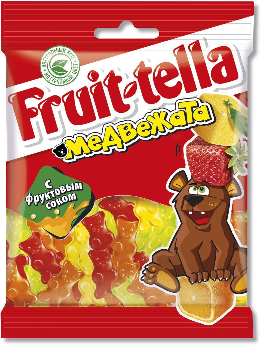 Fruittella Медвежата жевательный мармелад, 70 г ударница мармелад со вкусом черной смородины 325 г