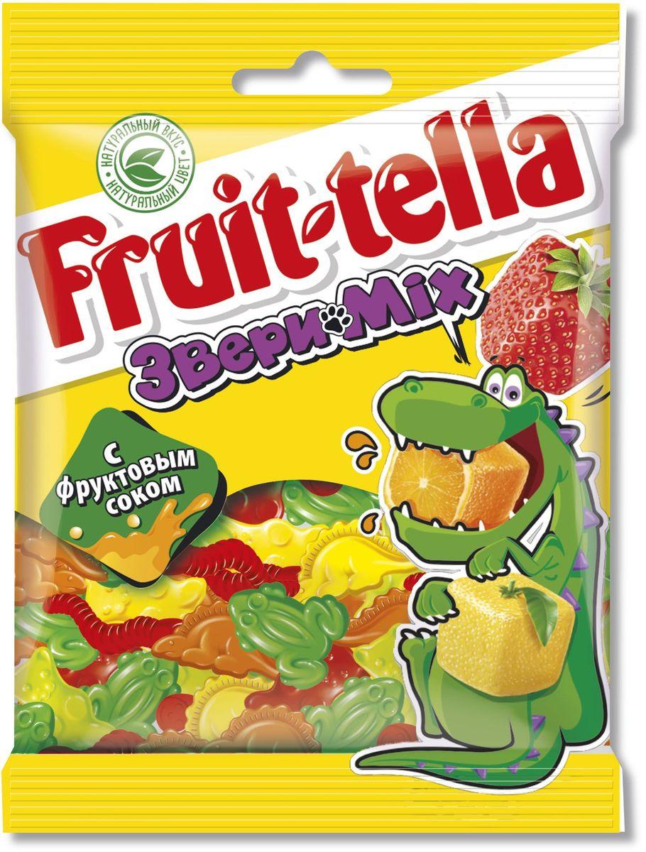 Fruittella Медвежата Звери Mix жевательный мармелад, 70 г kinder mini mix подарочный набор 106 5 г
