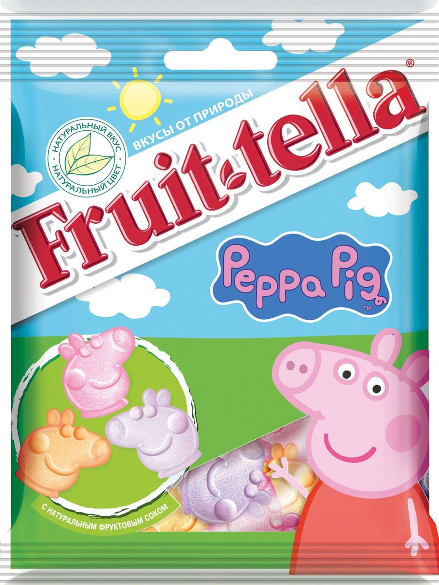 Fruittella Peppa Pig жевательный мармелад, 70 г peppa pig playing football