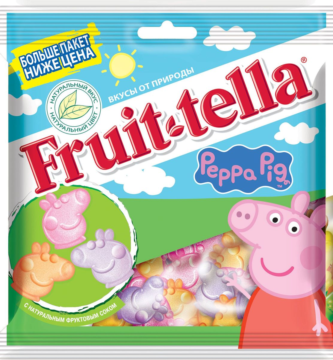 Fruittella Peppa Pig жевательный мармелад, 150 г peppa pig playing football