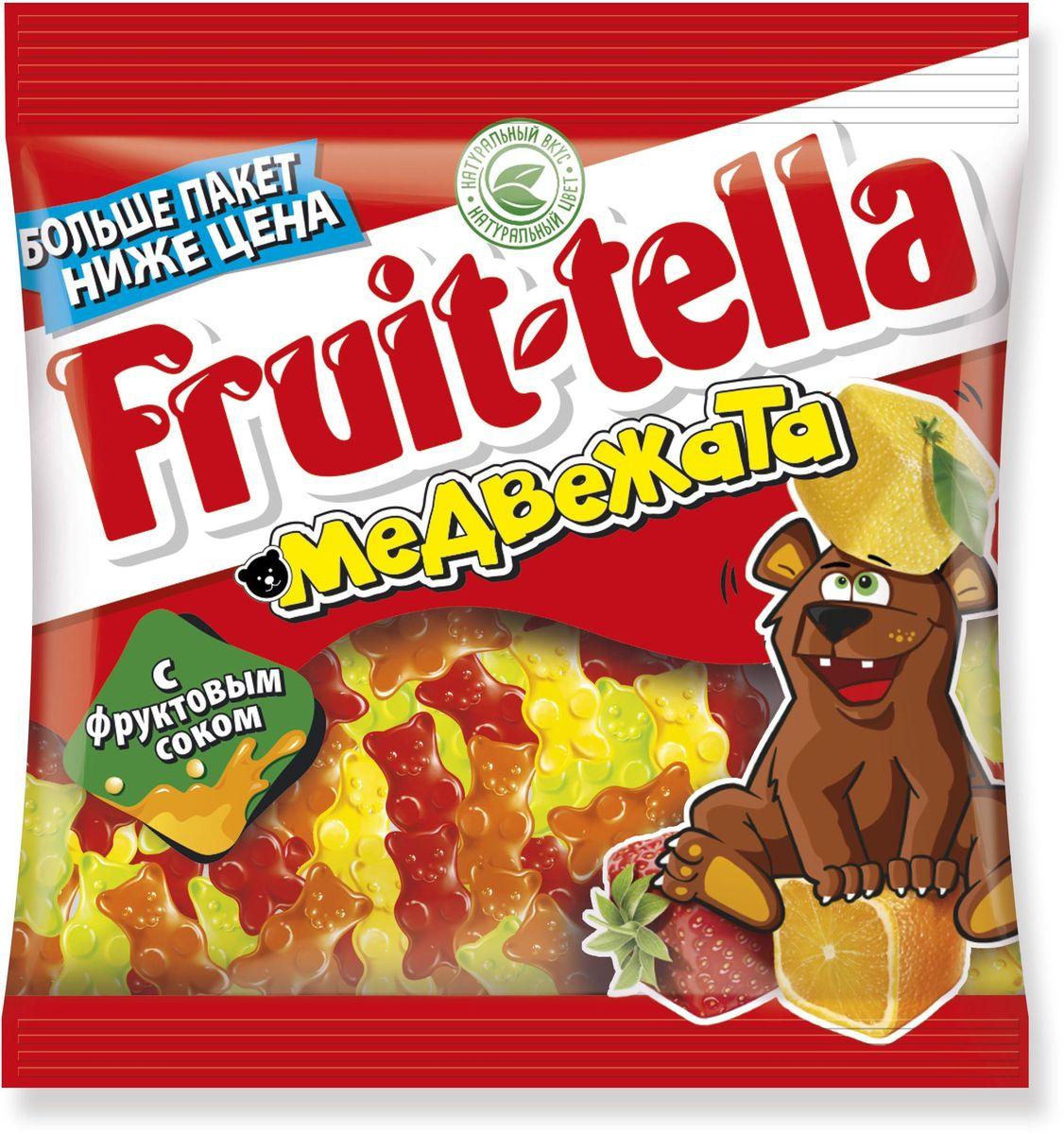Fruittella Медвежата жевательный мармелад, 150 г ударница мармелад со вкусом черной смородины 325 г