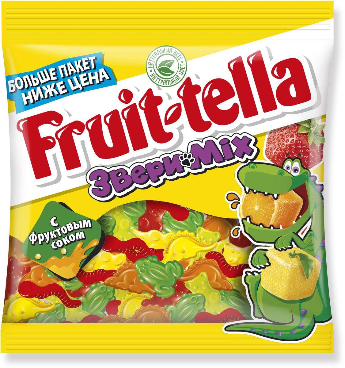 Fruittella Звери Mix жевательный мармелад, 150 г kinder mini mix подарочный набор 106 5 г