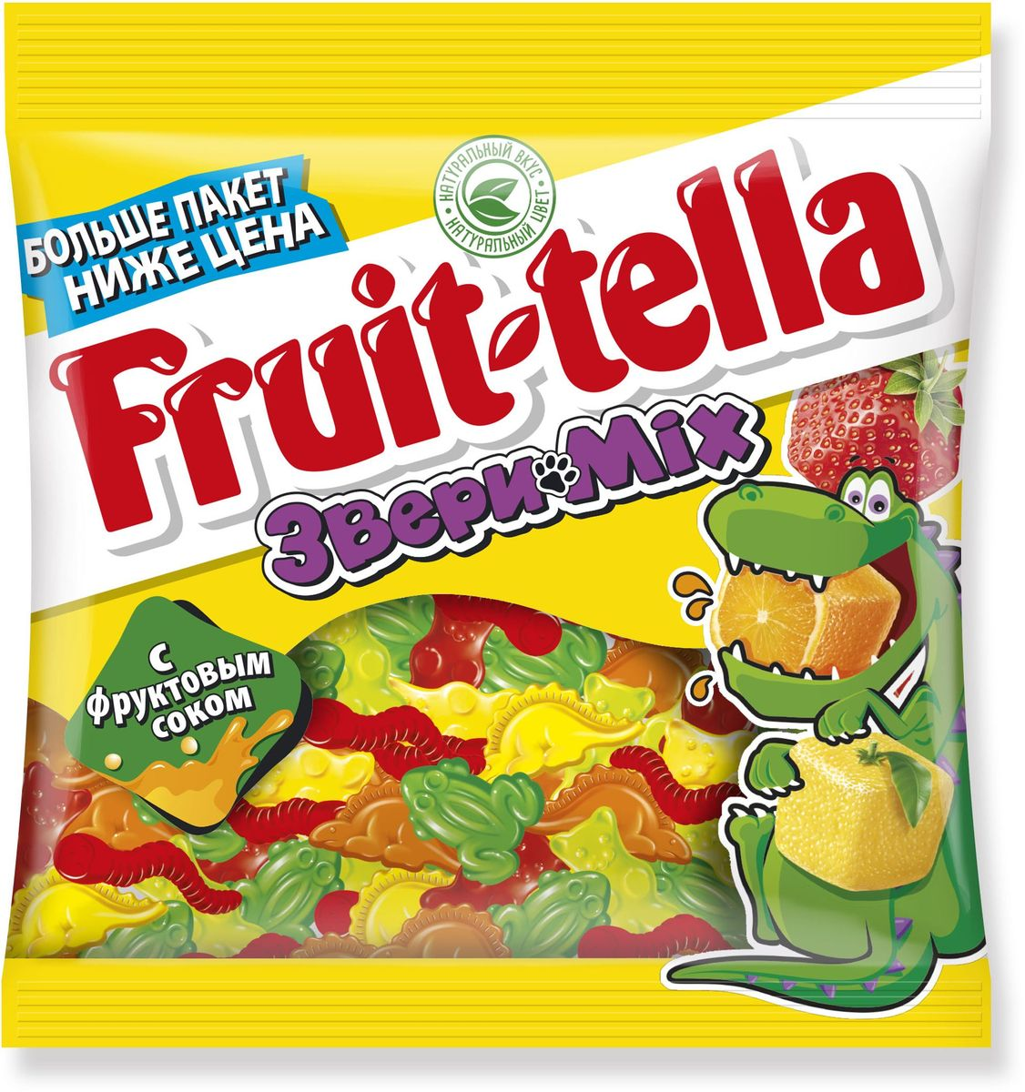 Fruittella Звери Mix жевательный мармелад, 150 г бумба балтика жевательный мармелад 108 г