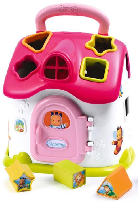 Smoby Сортер Домик цвет розовый smoby стульчик сидение для ванной cotoons цвет розовый