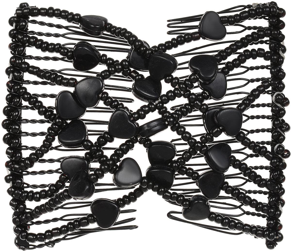 EZ-Combs Заколка Изи-Комбс, одинарная, цвет: черный. ЗИО_сердечки ez combs заколка изи комбс одинарная цвет коричневый зио цветок с серебром