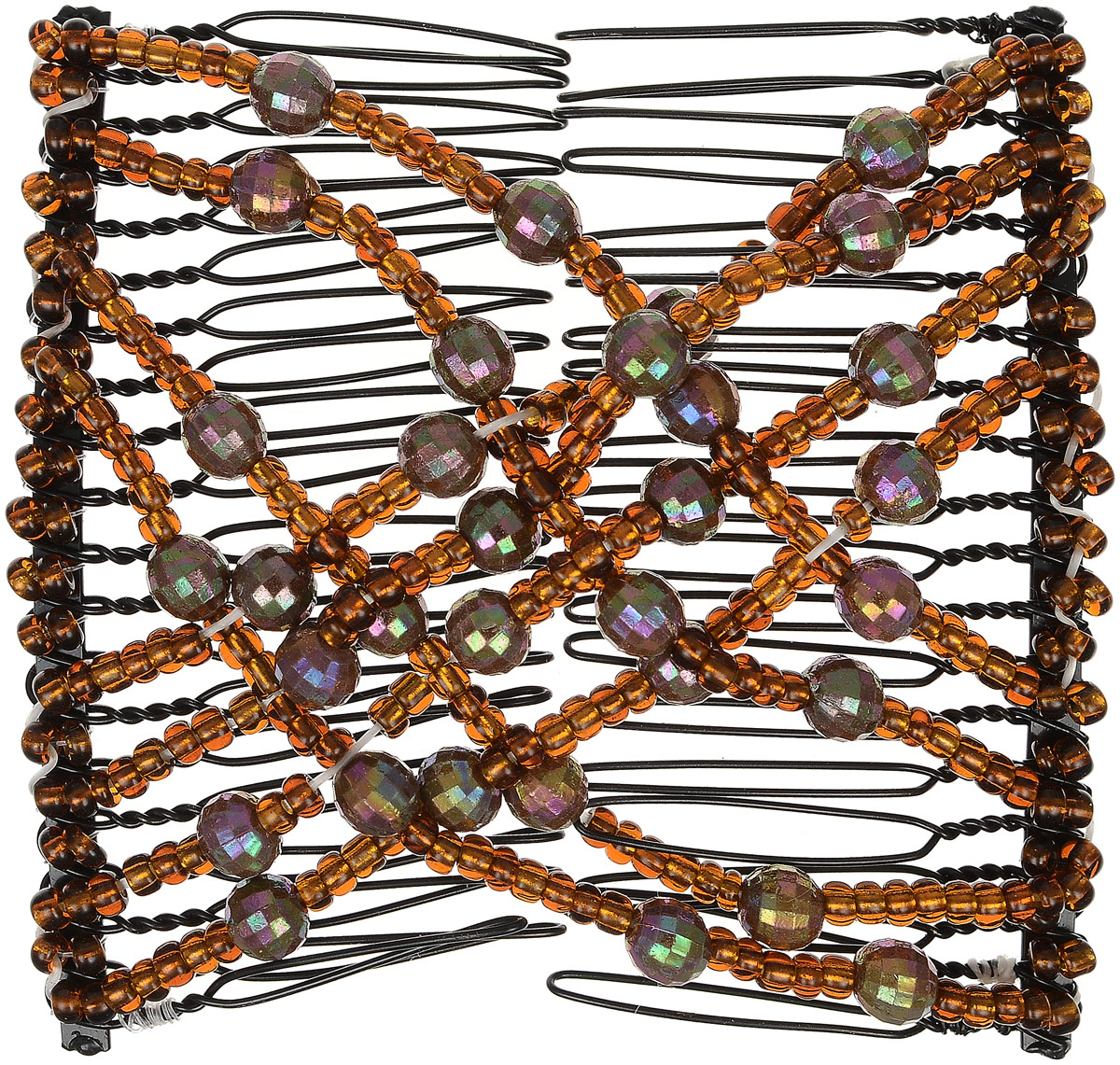 EZ-Combs Заколка Изи-Комбс, одинарная, цвет: коричневый. ЗИО_перламутр ez combs заколка изи комбс одинарная цвет коричневый зио цветок с серебром
