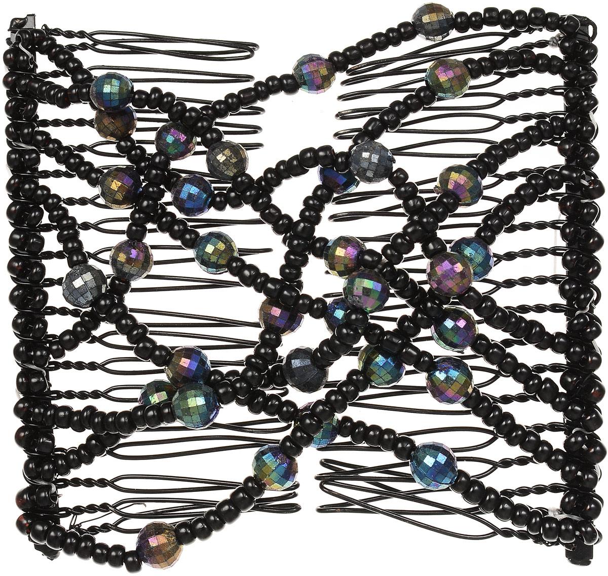 EZ-Combs Заколка Изи-Комбс, одинарная, цвет: черный. ЗИО_перламутрЗИО_черный, перламутрУдобная и практичная EZ-Combs подходит для любого типа волос: тонких, жестких, вьющихся или прямых, и не наносит им никакого вреда. Заколка не мешает движениям головы и не создает дискомфорта, когда вы отдыхаете или управляете автомобилем. Каждый гребень имеет по 20 зубьев для надежной фиксации заколки на волосах! И даже во время бега и интенсивных тренировок в спортзале EZ-Combs не падает; она прочно фиксирует прическу, сохраняя укладку в первозданном виде.Небольшая и легкая заколка для волос EZ-Combs поместится в любой дамской сумочке, позволяя быстро и без особых усилий создавать неповторимые прически там, где вам это удобно. Гребень прекрасно сочетается с любой одеждой: будь это классический или спортивный стиль, завершая гармоничный облик современной леди. И неважно, какой образ жизни вы ведете, если у вас есть EZ-Combs, вы всегда будете выглядеть потрясающе.