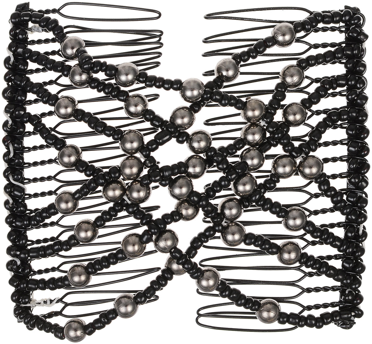 EZ-Combs Заколка Изи-Комбс, одинарная, цвет: черный, серебристый. ЗИО ez combs заколка изи комбс одинарная цвет коричневый зио сердечки