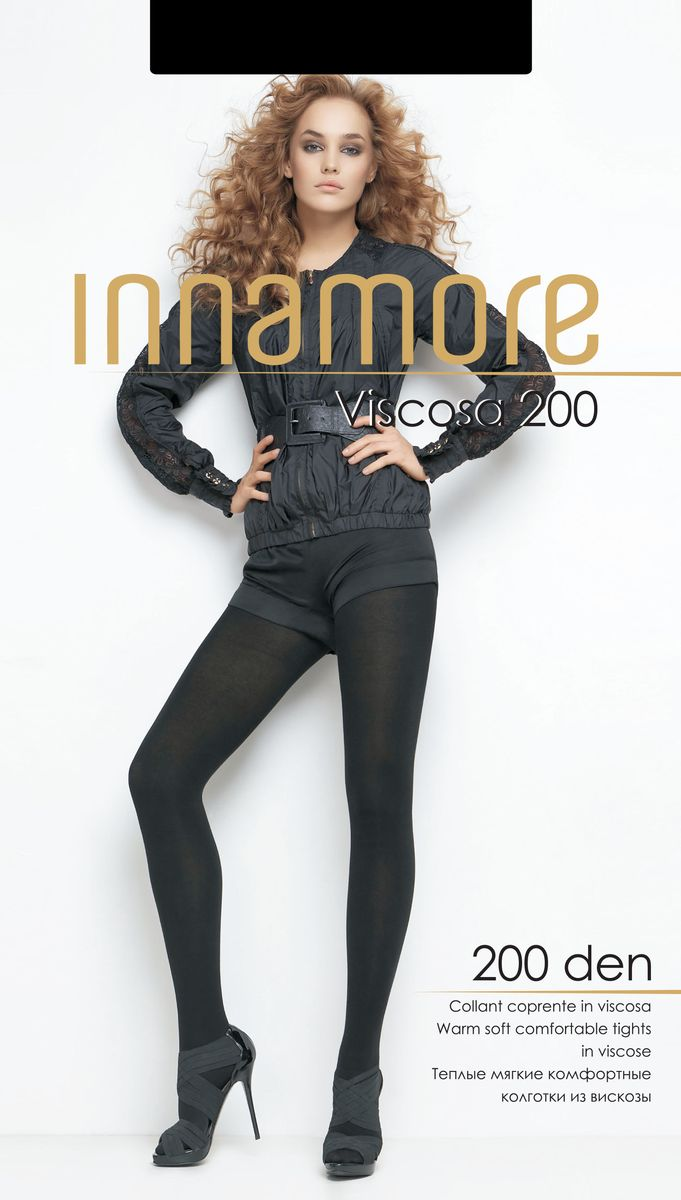 Колготки Innamore Viscosa 200, цвет: Nero (черный). 20384. Размер 3 колготки giulia колготки фантазия модель monica 02