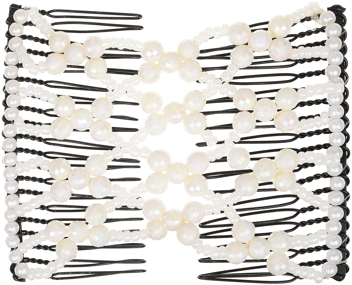 EZ-Combs Заколка Изи-Комбс, одинарная, цвет: белый. ЗИО_перламутр ez combs заколка изи комбс одинарная цвет коричневый зио сердечки