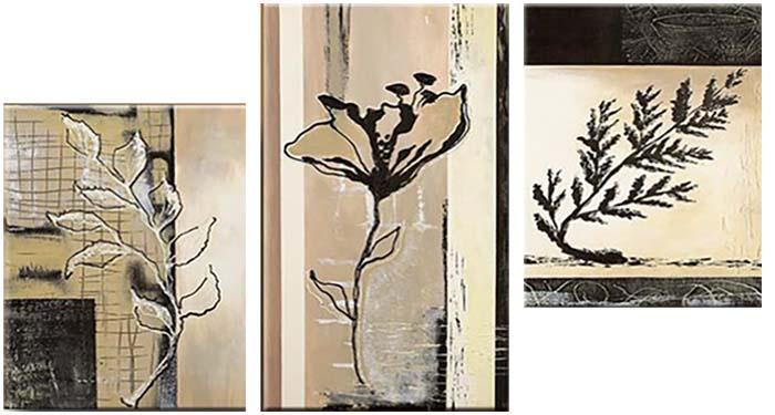 Картина Арт78 Растения, модульная, 100 см х 60 см. арт780024-3арт780024-3Ничто так не облагораживает интерьер, как хорошая картина. Особенную атмосферу создаст крупное художественное полотно, размеры которого более метра. Подобные произведения искусства, выполненные в традиционной технике (холст, масляные краски), чрезвычайно капризны: требуют сложного ухода, регулярной реставрации, особого микроклимата – поэтому они просто не могут существовать в условиях обычной городской квартиры или загородного коттеджа, и требуют больших затрат. Данное полотно идеально приспособлено для создания изысканной обстановки именно у Вас. Это полотно создано с использованием как традиционных натуральных материалов (холст, подрамник - сосна), так и материалов нового поколения – краски, фактурный гель (придающий картине внешний вид масляной живописи, и защищающий ее от внешнего воздействия). Благодаря такой композиции, картина выглядит абсолютно естественно, и отличить ее от традиционной техники может только специалист. Но при этом изображение отлично смотрится с любого расстояния, под любым углом и при любом освещении. Картина не выцветает, хорошо переносит даже повышенный уровень влажности. При необходимости ее можно протереть сухой салфеткой из мягкой ткани.