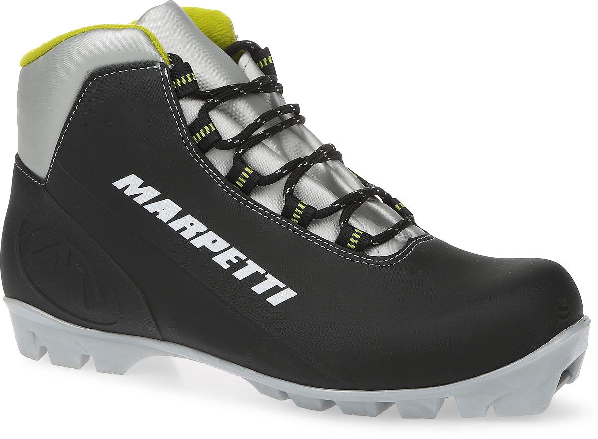 Ботинки лыжные Marpetti  Bolzano NNN , цвет: черный, серый, светло-зеленый. Размер 45 - Беговые лыжи
