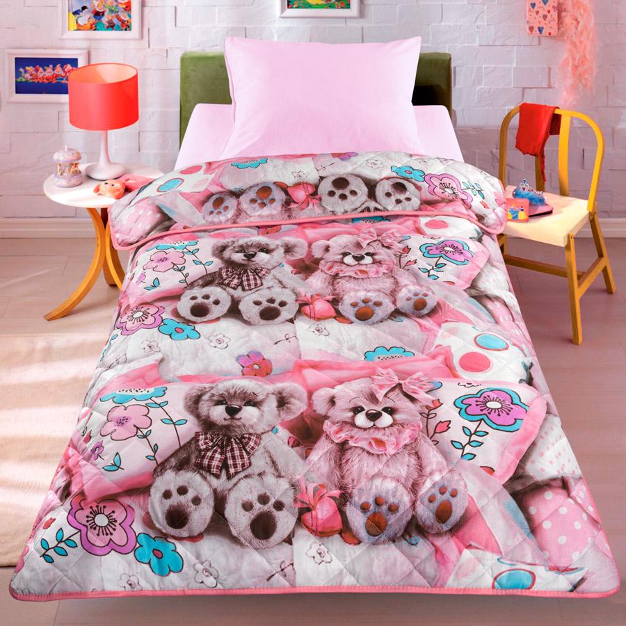 Покрывало-одеяло детское Letto Тэдди, облегченное, 140 х 200 см матрас орматек optima lux evs оптима люкс 200x195