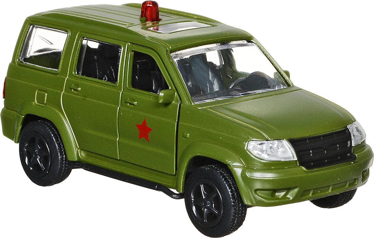 ТехноПарк Машинка инерционная UAZ Patriot машинка технопарк уаз патриот полиция 1 50