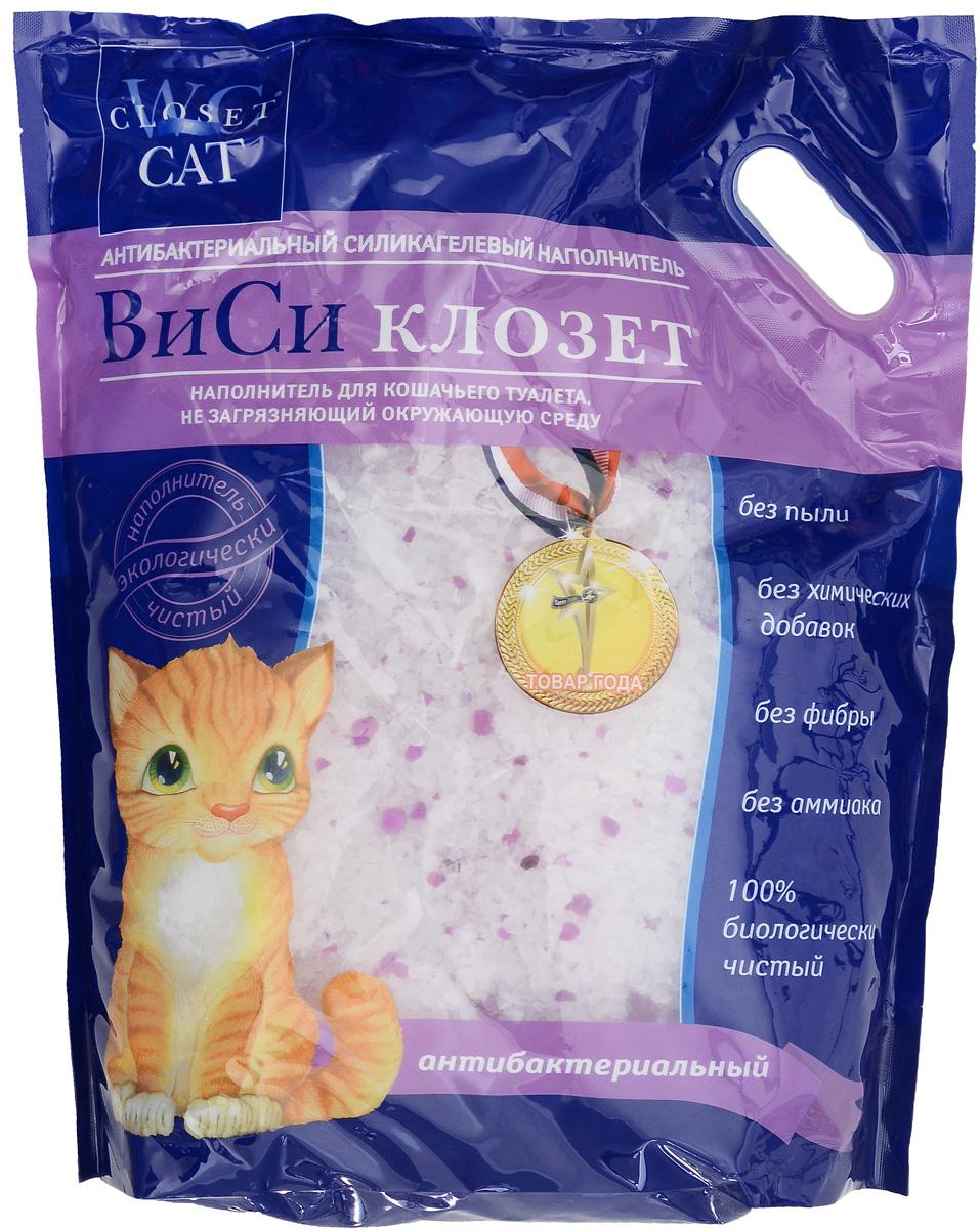 Наполнитель для кошачьего туалета ВиСи Клозет, силикагелевый, антибактериальный, 7,6 л1681Антибактериальный силикагелевый наполнитель для кошачьего туалета ВиСи Клозет изготовлен из 100% натурального биологического вещества. Его химический состав подобен натуральному кварцевому песку, сохраняя его надолго сухим и свежим, а специальные гранулы действуют бактерицидно. Наполнитель ВиСи Клозет не токсичен, не имеет запаха, не вызывает аллергии у людей и животных. Наполнитель экологически безопасен.Товар сертифицирован.