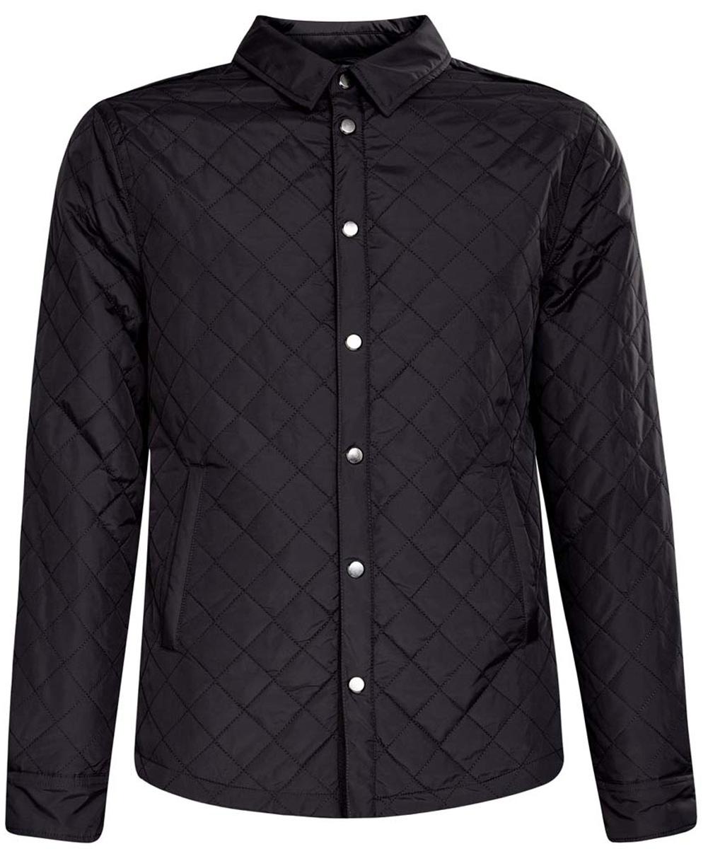 Куртка мужская oodji, цвет: темно-синий. 1L111016M/44335N/7900N. Размер M (48-182)1L111016M/44335N/7900NМужская куртка oodji изготовлена из полиамида. Модель имеет тонкий слой утеплителя и застёгивается кнопки. Спереди на куртке расположено два врезных кармана. Низ рукавов фиксируется кнопками.