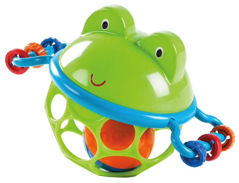 Oball Развивающая игрушка-мяч Лягушонок развивающие игрушки oball мячик на присоске