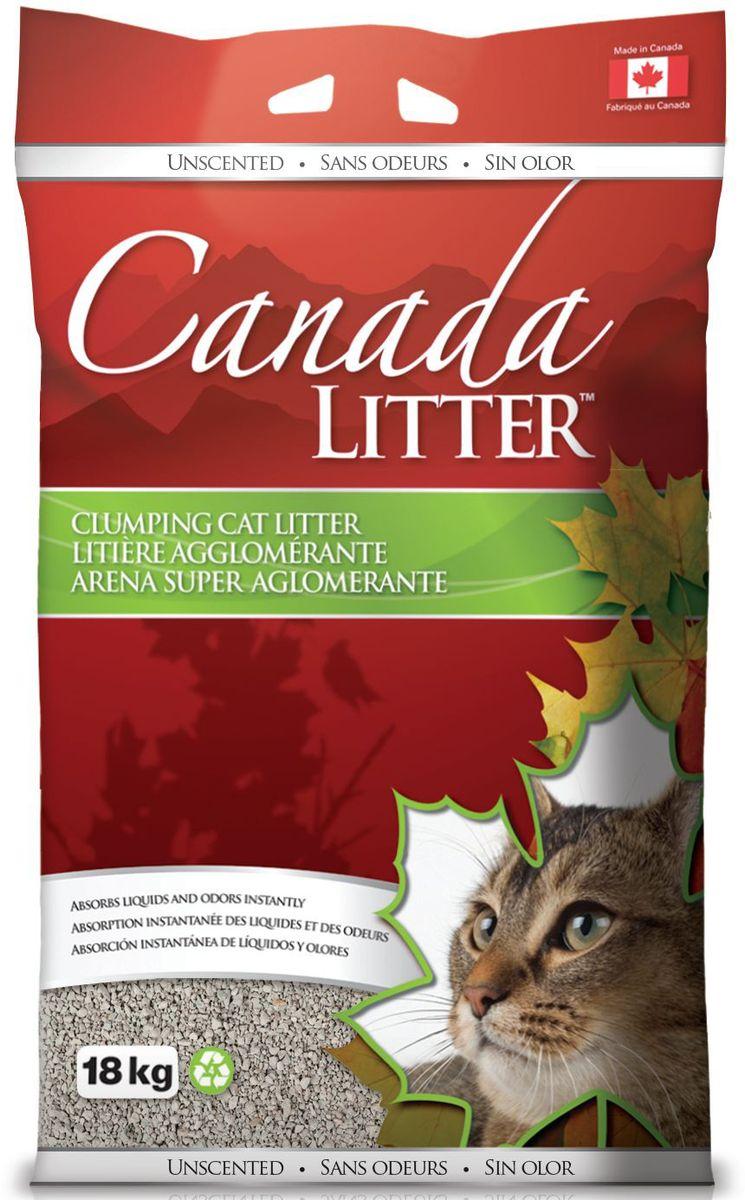 Наполнитель для кошачьих туалетов Canada Litter Запах на Замке, комкующийся, с ароматом детской присыпки, 18 кг canada goose ca997emvbm40 canada goose