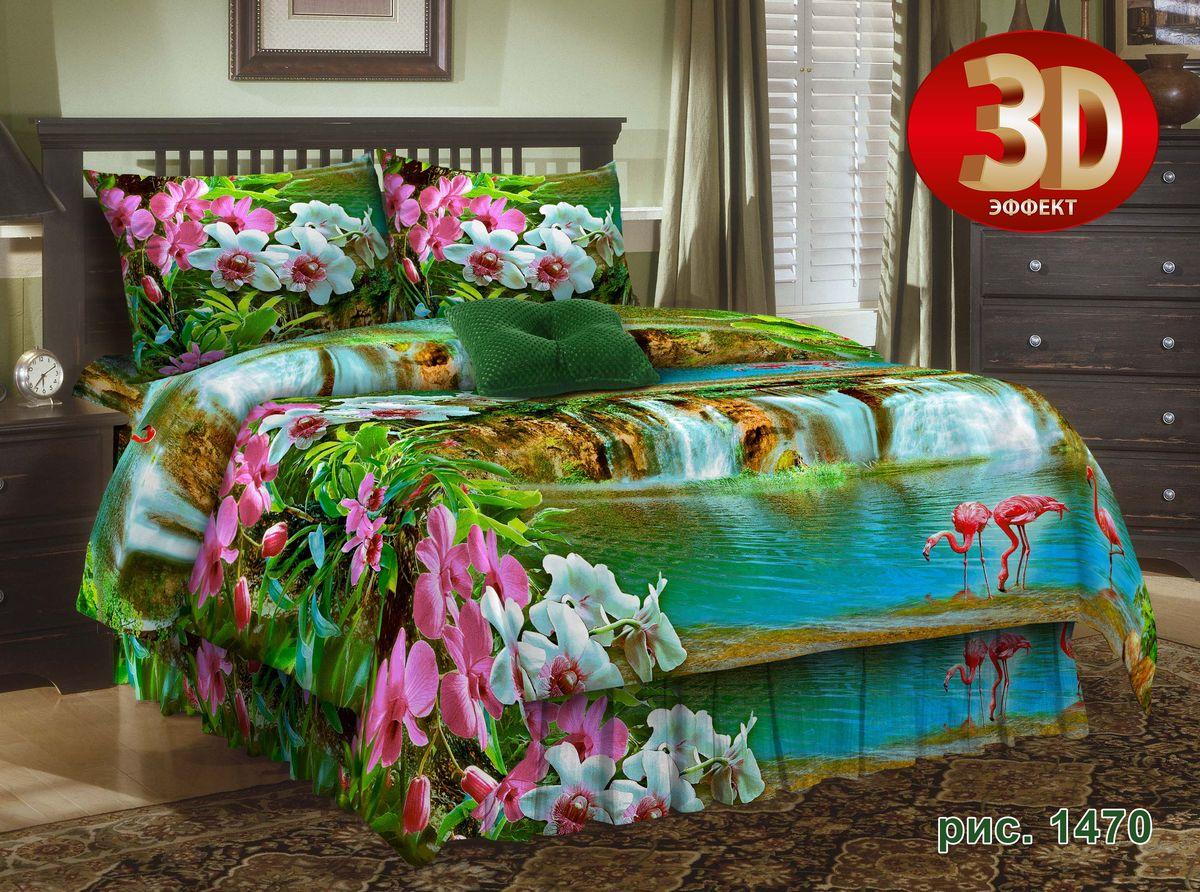 Комплект белья Guten Morgen Фламинго, 1,5-спальный, наволочки 70х70. D-1470-143-150-70D-1470-143-150-70Комплект постельного белья Guten Morgen Фламинго, изготовленный из бязи (100% хлопка), поможет вам расслабиться и подарит спокойный сон. Комплект состоит из пододеяльника, простыни и двух наволочек.Благодаря такому комплекту постельного белья вы сможете создать атмосферу уюта и комфорта в вашей спальне.