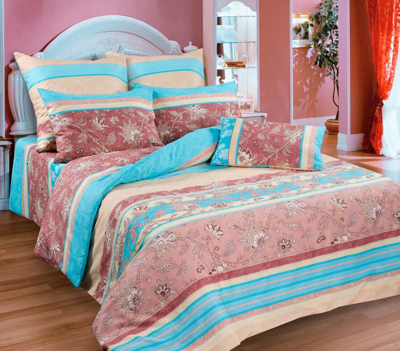 Комплект белья Guten Morgen Ажур, 2-спальный, наволочки 70х70D-4421/1-175-200-70Комплект постельного белья Guten Morgen Ажур, изготовленный из бязи (100% хлопка), являющейся экологически чистым продуктом, поможет вам расслабиться и подарит спокойный сон. Комплект состоит из пододеяльника, простыни и двух наволочек. Предметы комплекта оформлены узором. Постельное белье имеет и привлекающий внешний вид и обладает яркими, сочными цветами. Благодаря такому комплекту постельного белья вы сможете создать атмосферу уюта и комфорта в вашей спальне.