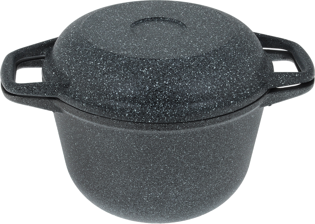 Казан Casta Megapolis с крышкой-сковородой, с антипригарным покрытием, 3 л казан с пловом