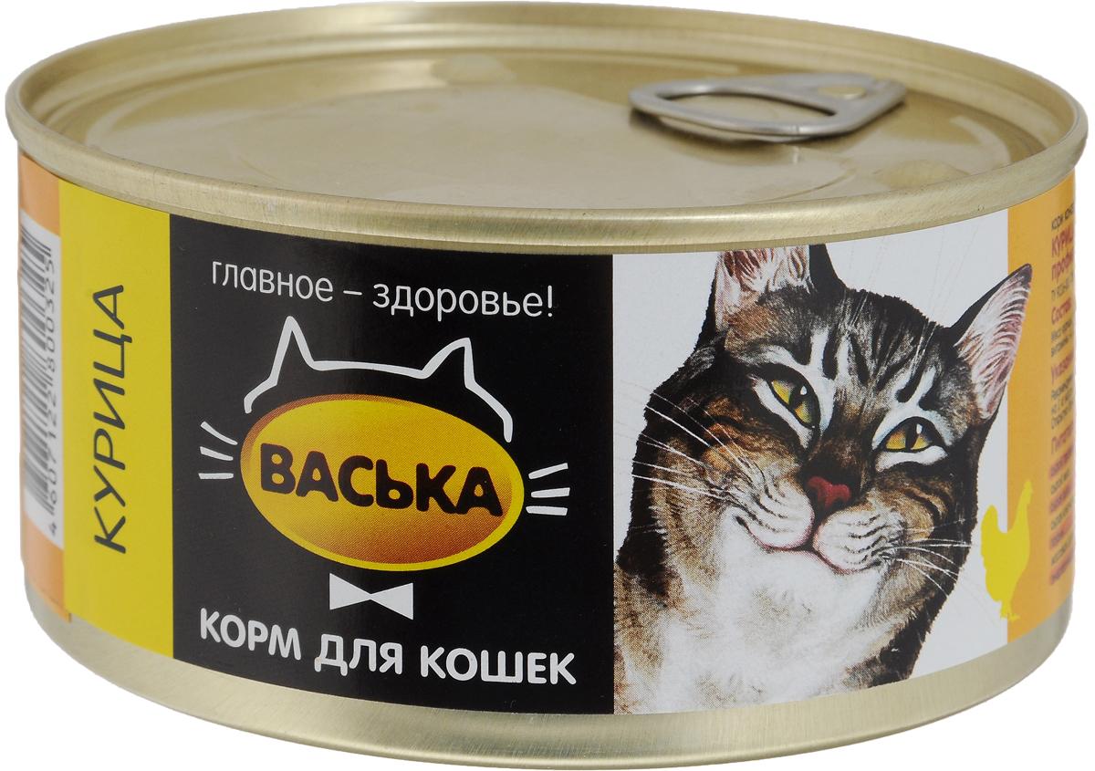 """Консервы для кошек """"Васька"""", для профилактики моче-каменных болезней, курица, 325 г"""
