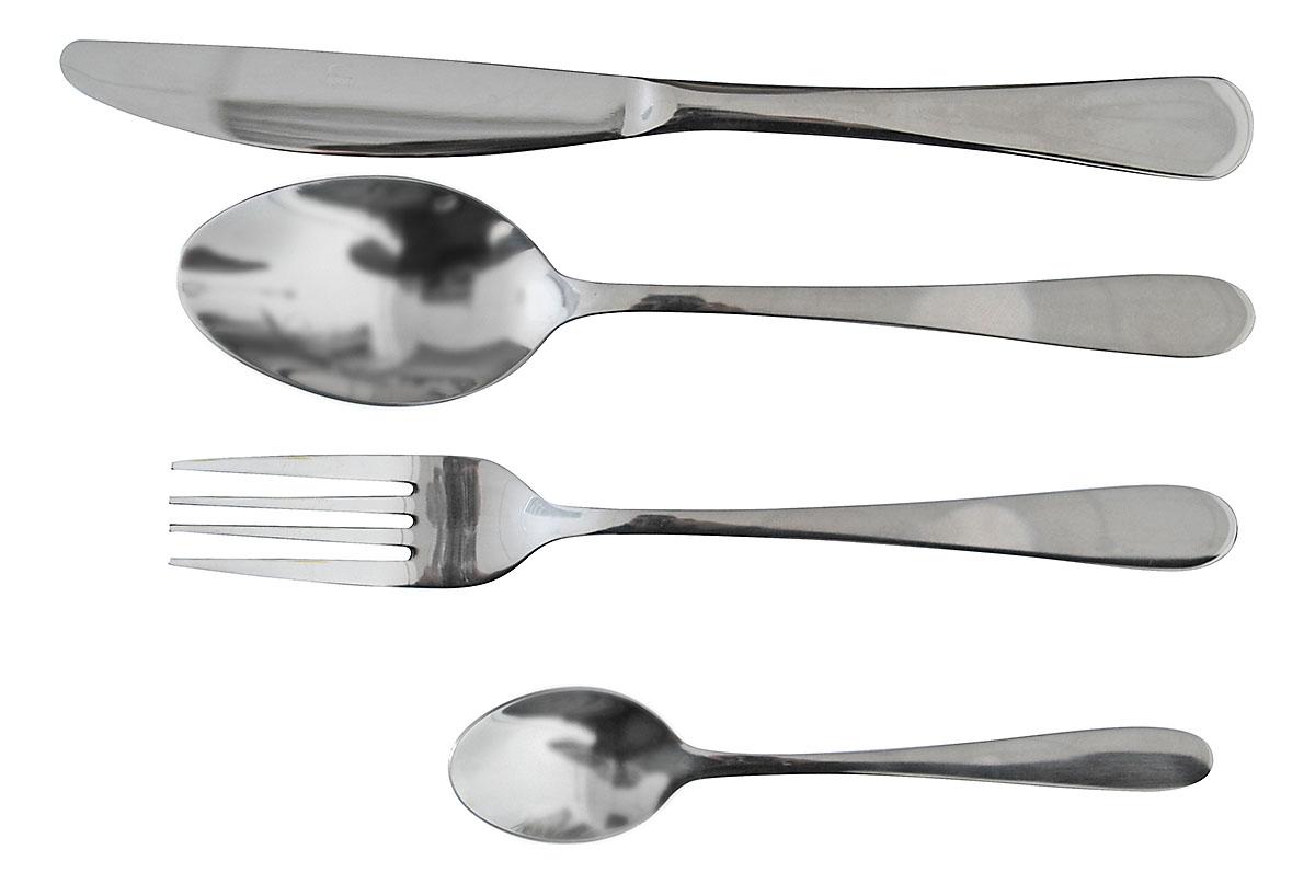 Набор столовых приборов Marvel, 24 предмета. 815815Набор столовых приборов Marvel состоит из 24 предметов: 6 ножей, 6 столовых ложек, 6 вилок и 6 чайных ложек. Приборы изготовлены из высококачественной нержавеющей стали. Качество исполнения и изящество форм предметов притягивают взгляд, а эксклюзивный дизайн и функциональность делают набор незаменимым на современной кухне.Набор столовых приборов подойдет для сервировки стола, как дома, так и в ресторане ивсегда будет важной частью трапезы, а также станет замечательным подарком.