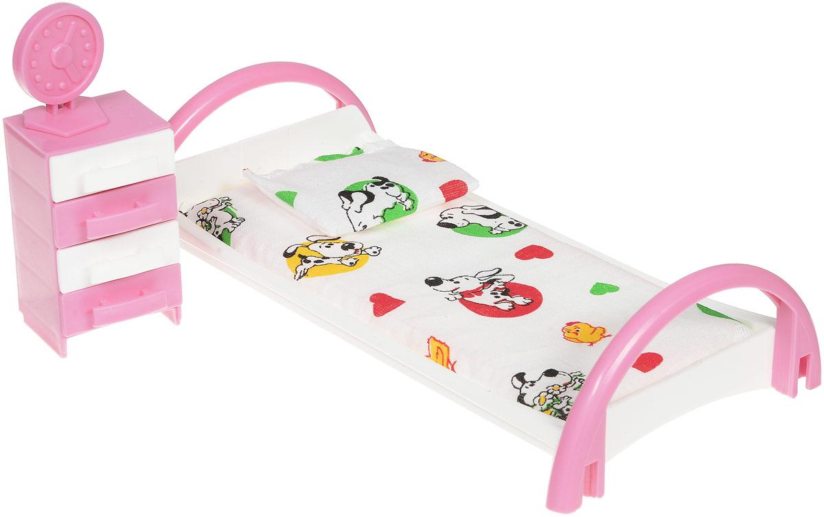 Форма Набор мебели для кукол Кровать с тумбочкой цвет белый как паралон для мебели в уфе
