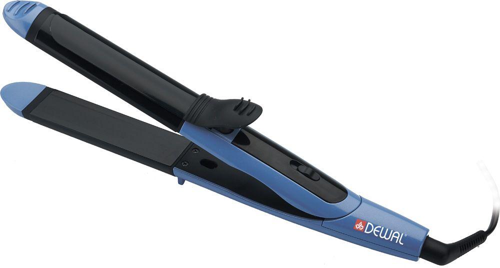 Dewal 03-309 2 in 1, Blue щипцы для завивки волос03-309Стайлер 2 in 1 продолжает линейку многофункциональных стайлеров. Это стильный инструмент с корпусом выполненном в ледяном цвете с жемчужным эффектом. Вы можете использовать его как выпрямитель для волос и как плойку с зажимом (диаметр 32 мм). Пластины стайлера плотно защелкиваются и благодаря 3D полотнам волосы прогреваются равномерно. Результат – эффектные красивые локоны, которые долго держат свою форму!