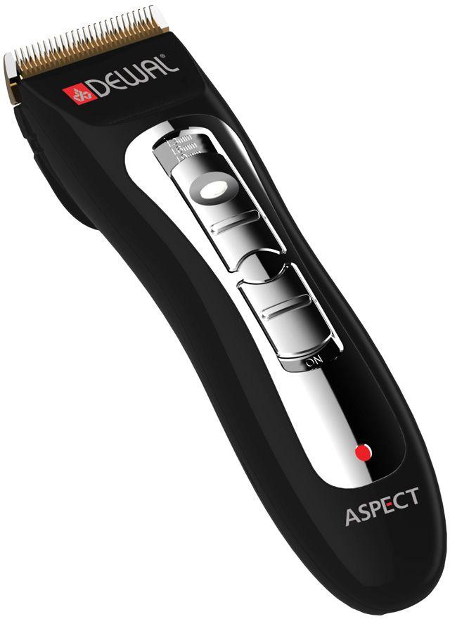 Dewal 03-031 Aspect, Black машинка для стрижки волос03-031Dewal 03-031 Aspect - это современная стильная машинка для выполнения окантовки, с питанием от аккумулятора, ножами из нержавеющей стали и 4 насадками в комплекте, регулирующими длину стрижки. Машинка оснащена съемным ножевым блоком шириной 40 мм с лезвиями из нержавеющей стали. Она работает от аккумулятора и для зарядки устанавливается на подставку. Время автономной работы составляет 60 минут, а время зарядки - около 5 часов.