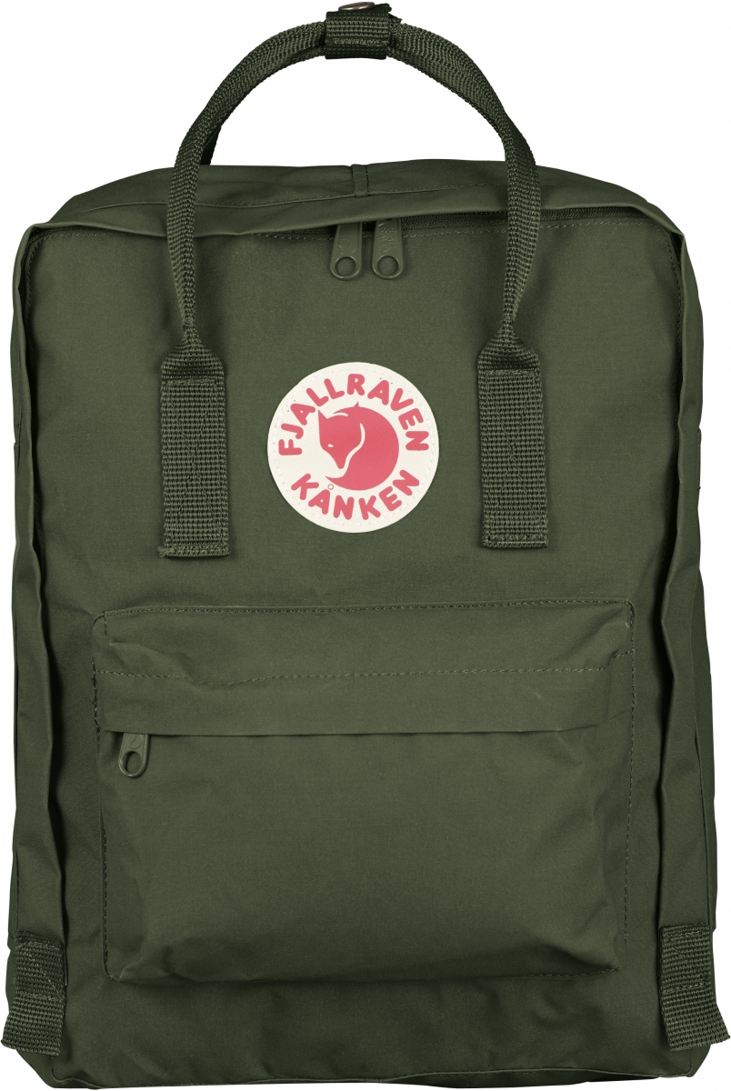 Рюкзак Fjallraven Kanken, цвет: темно-зеленый, 16 л
