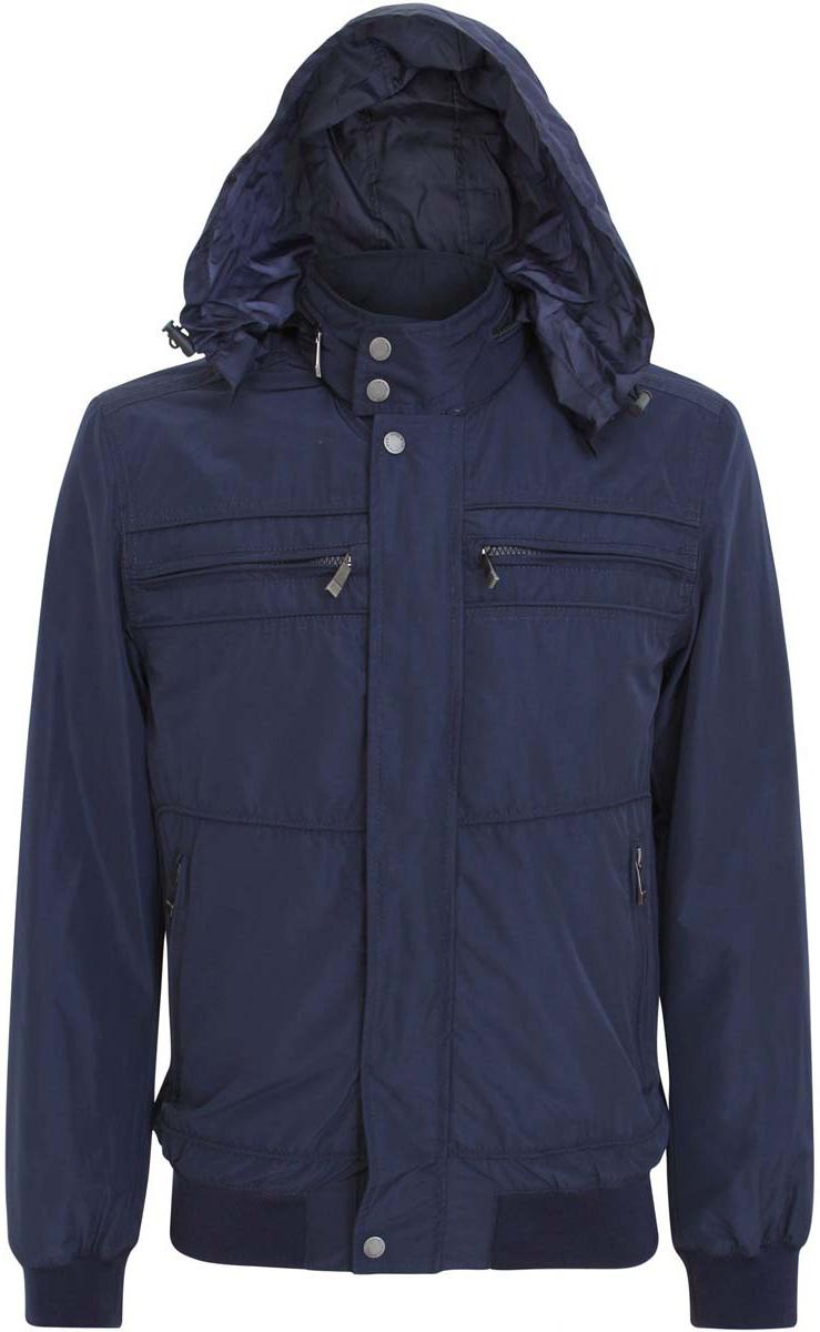 Куртка мужская oodji, цвет: темно-синий. 1L514009M/44096N/7900N. Размер XL (56-182)1L514009M/44096N/7900NМужская куртка oodji изготовлена из полиэстера. Модель застёгивается на застежку-молнию и кнопки. Воротник-стойка с внешней стороны дополнен карманом на молнии, в котором разместился пришитый капюшон. Капюшон дополнен резинкой-утяжкой с фиксаторами. Спереди куртки расположено четыре кармана на молниях. С внутренней стороны куртки расположен дополнительный карман на застежке-молнии. Низ куртки и рукава дополнены резинками.