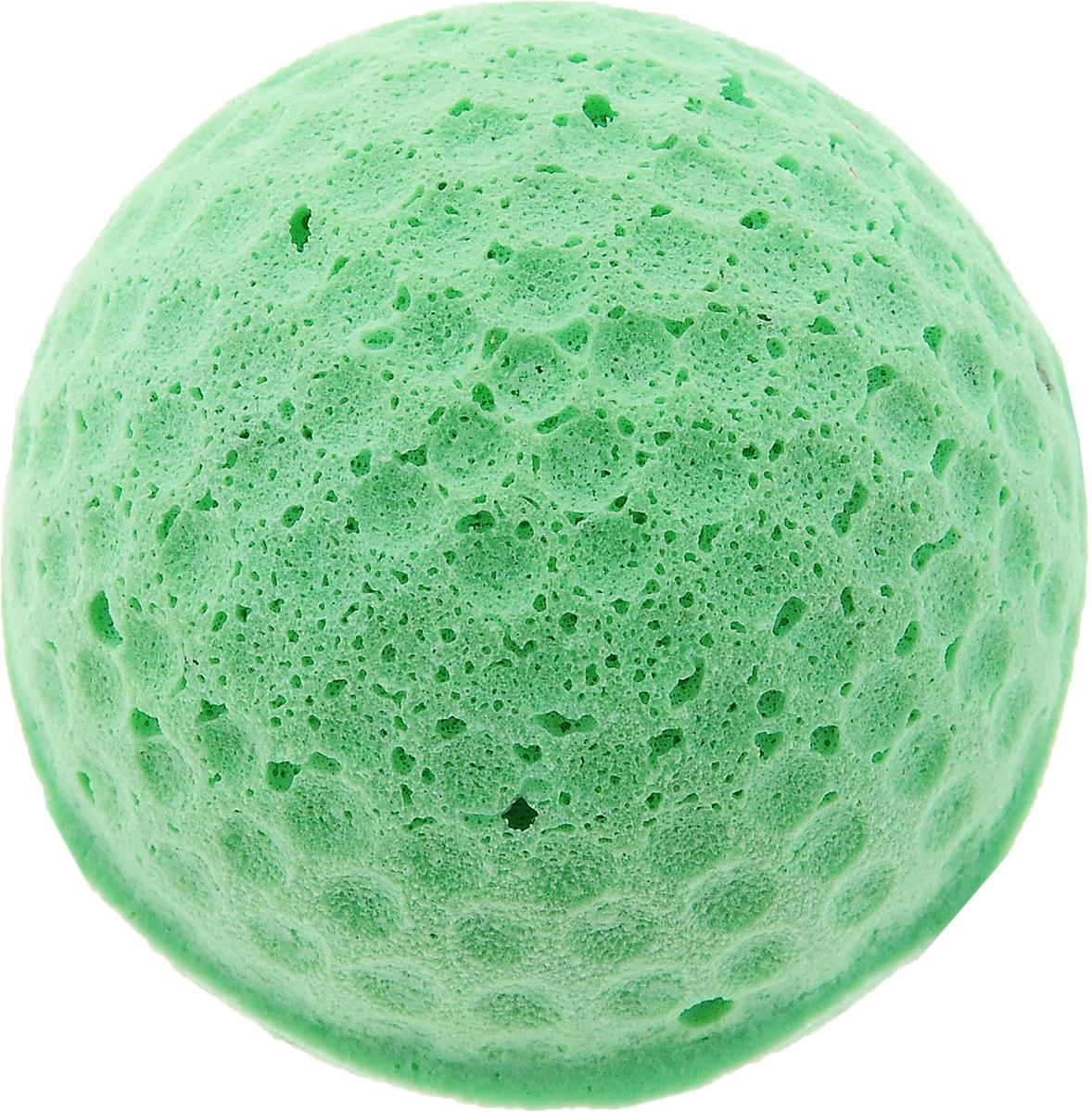 Игрушка для животных Каскад Мячик зефирный. Гольф, цвет: зеленый, диаметр 4 см игрушки для животных zoobaloo игрушка для кошки бамбук меховой мячик на резинке 60см