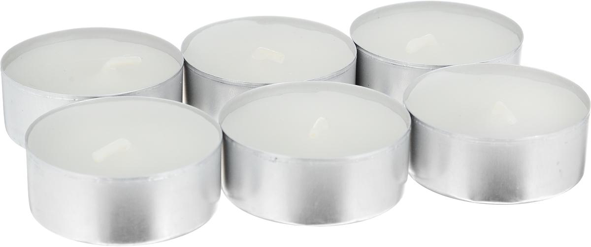Свеча ароматическая чайная Bolsius Ландыш, 6 шт103626941503Свеча ароматическая Bolsius Ландыш создаст в доме атмосферу тепла и уюта. Чайная свеча в металлической подставке приятно смотрится в интерьере, она безопасна и удобна в использовании. Свеча создаст приятное мерцание, а сладкий манящий аромат окутает вас и подарит приятные ощущения.Время горения: 4 ч.