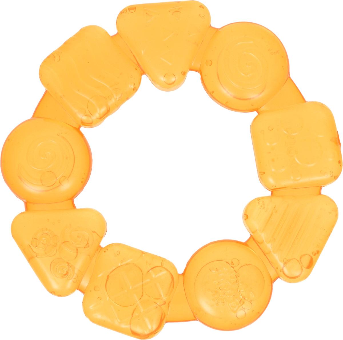 Bright Starts Прорезыватель Карамельный круг цвет желтый прорезыватель bright starts динозаврик желтый 52029 2