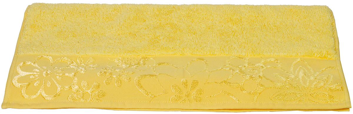 Полотенце Hobby Home Collection Dora, цвет: желтый, 50 х 90 см1501000436Полотенце Hobby Home Collection Dora выполнено из 100% хлопка. Изделие отлично впитывает влагу, быстро сохнет, сохраняет яркость цвета и не теряет форму даже после многократных стирок. Такое полотенце очень практично и неприхотливо в уходе. А простой, но стильный дизайн полотенца позволит ему вписаться даже в классический интерьер ванной комнаты.